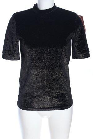 pop Copenhagen Kurzarm-Bluse schwarz Casual-Look