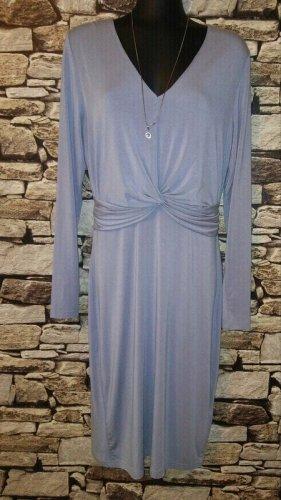 Pop Copenhagen Wrap Jersey Kleid blau, GR: 38