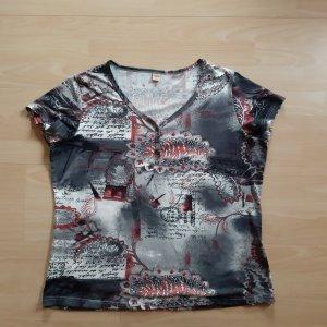 T-shirt veelkleurig Gemengd weefsel