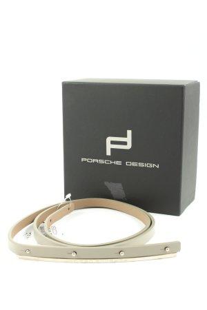 Porsche Design Cinturón de cuero de imitación gris claro estilo «business»