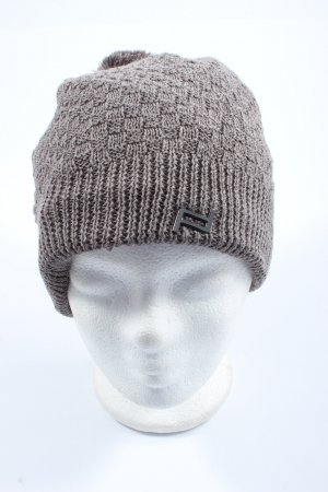 Porsche Design Knitted Hat light grey cable stitch casual look