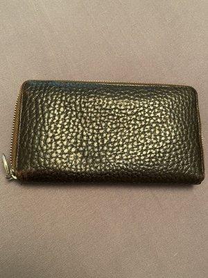 Portemonnaie aus Leder, dunkelbraun, gebraucht