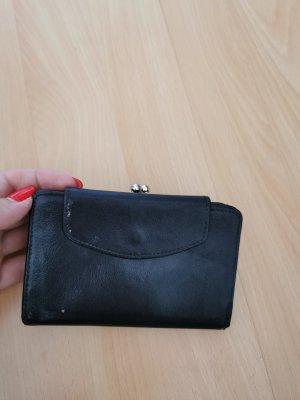 Portemonnaie Geldbörse Leder Damen Schwarz