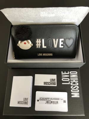 Love Moschino Wallet black-red