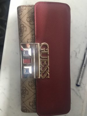Guess Brooch bronze-colored leather