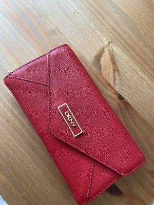 DKNY Portefeuille rouge foncé cuir