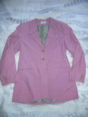 Portobellos Long Blazer Einreiher Seide Viscose lila flieder rosa Gr 38-40