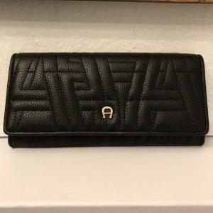 Aigner Wallet black leather