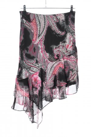 positano Asymmetry Skirt abstract pattern casual look