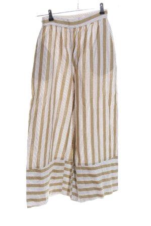 POSSE Culottes wollweiß-bronzefarben Streifenmuster Casual-Look
