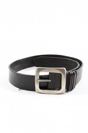 Post & Co Leather Belt black casual look