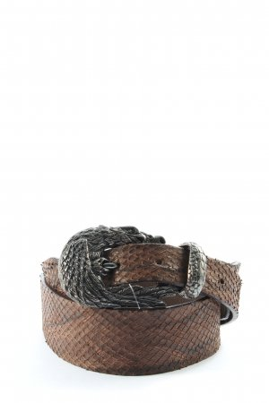 Post & Co Leather Belt brown animal pattern extravagant style