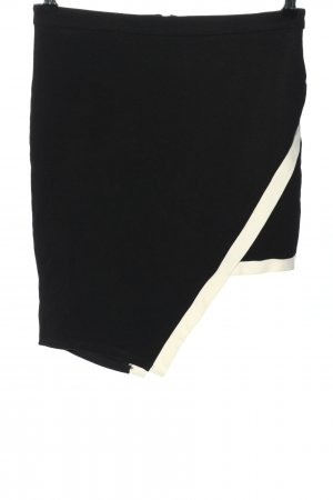 Potter's Pot Falda asimétrica negro-blanco puro look casual