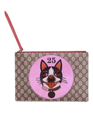 Gucci Borsa clutch rosa-rosso
