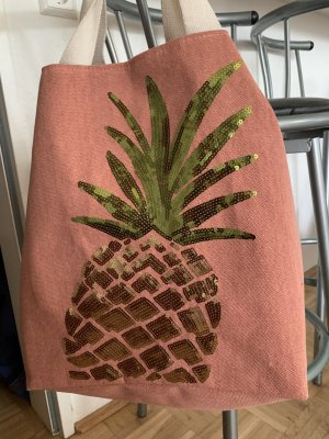 PoWdEr! Boho Pineapple Bag/Tasche - Coral/Gold - Limited Edition!