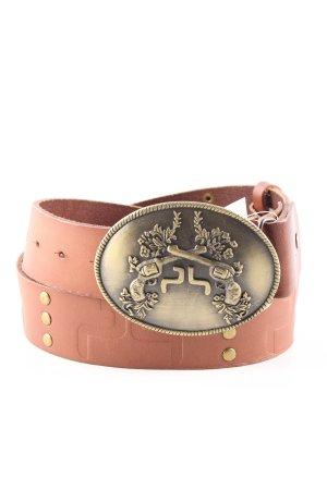 Powderhorn Lederimitatgürtel braun-bronzefarben extravaganter Stil