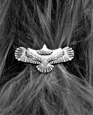 Prachtvolle Haarspange, Silberfarben