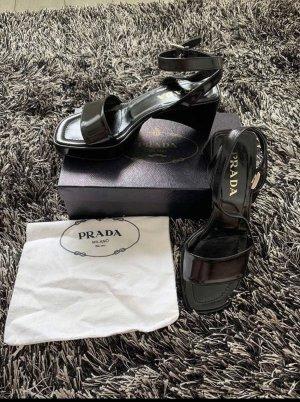 Prada Sandales à plateforme noir