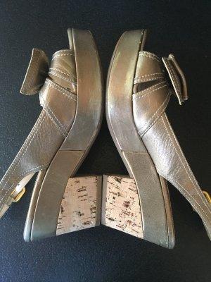 Prada 38,5 Sandaletten Schuhe Kork Absatz