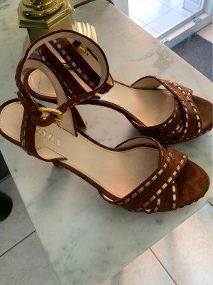 Prada Strapped pumps cognac-coloured leather