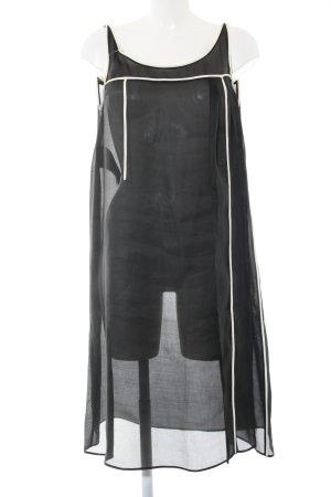 Prada A-Linien Kleid schwarz-weiß Streifenmuster Casual-Look
