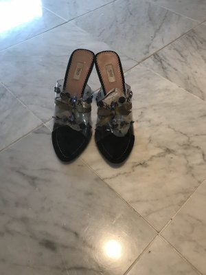Prada Heel Pantolettes multicolored