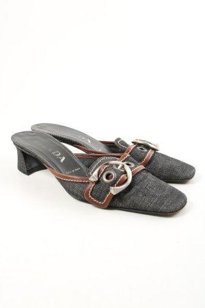 Prada Absatz Pantoletten schwarz-braun Casual-Look