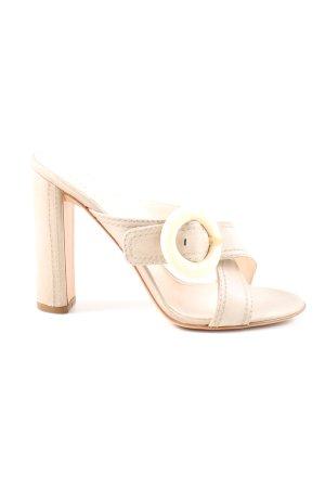 Prada Sandalo con tacco bianco sporco stile casual
