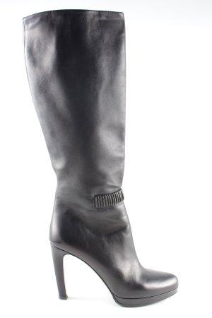 Prada Absatz Stiefel schwarz Business-Look