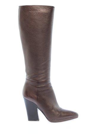 Prada Absatz Stiefel bronzefarben Casual-Look