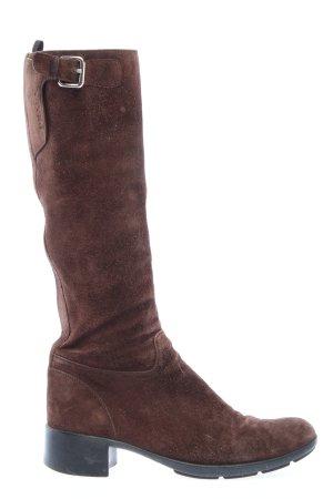 Prada Jackboots brown casual look