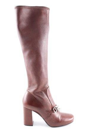 Prada Absatz Stiefel braun Business-Look