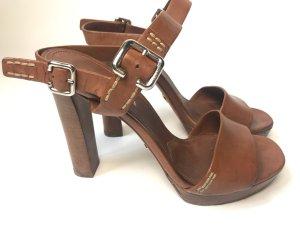Prada Dianette sandalen bruin Leer