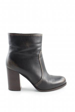 Prada Ankle Boots braun-wollweiß Casual-Look