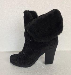 Prada, Ankle Boots, Suede, black, gefüttert, 38,5, neu, € 900,-