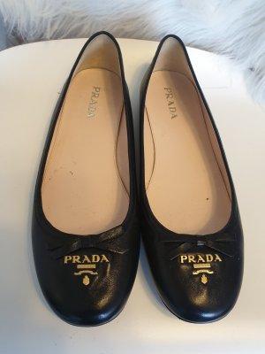 Prada Strappy Ballerinas black