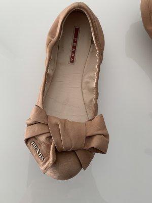 Prada Mary Jane ballerina's cognac