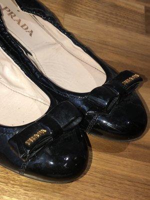 Prada Ballerina schwarz Klassik
