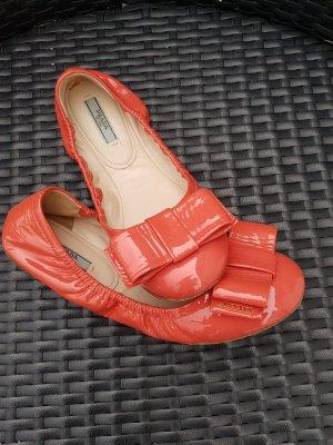 Prada  ballerinas mit Schleife /Lackschuhe Größe 38
