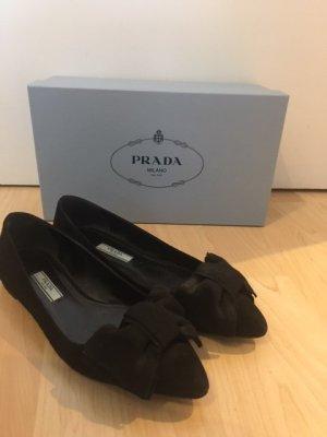 Prada Ballerinas schwarz Größe 36