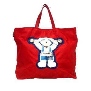 Prada Beijing Olympics Teddy Bear Tessuto Satchel