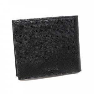 Prada Bi-Fold Saffiano Leather Small Wallet