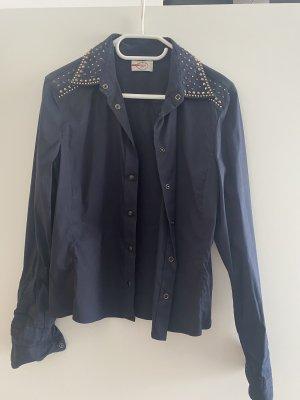 Prada Long Sleeve Blouse dark blue