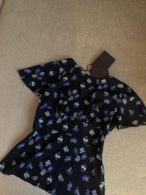 Prada Blouse met korte mouwen donkerblauw-korenblauw