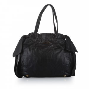 Prada Bow Lambskin Leather Satchel