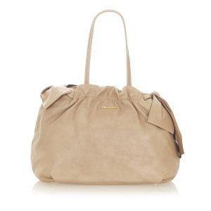Prada Bow Leather Handbag