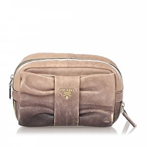 Prada Pouch Bag brown leather