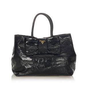 Prada Bow Patent Leather Handbag