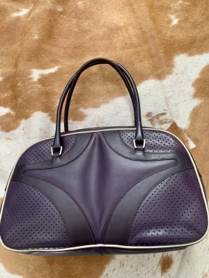 Prada Bowling Bag brown violet-blackberry-red