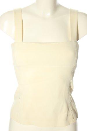 Prada Top bustino bianco sporco stile casual